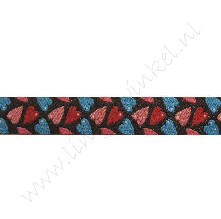 Jacquard weefband 12mm - Hartjes