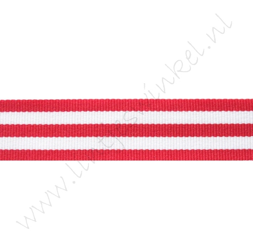Strepenlint 22mm - Rood Wit