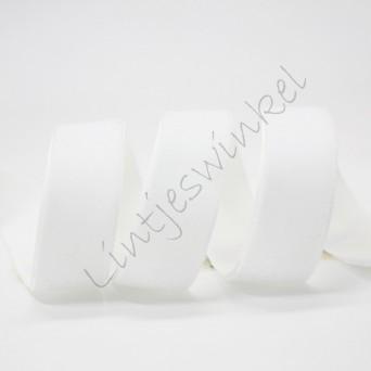 Lint fluweel 10mm - Wit (029)