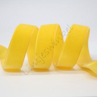 Lint fluweel 10mm - Geel Goud