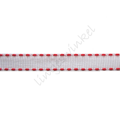 Lint stiksels 10mm - Wit Rood