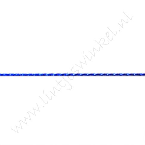 Metallic koord 1mm - Donker Blauw