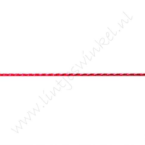 Metallic koord 1mm - Rood