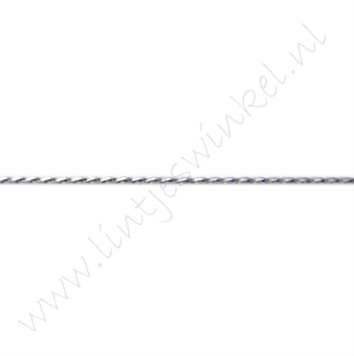 Metallic koord 1mm - Zilver