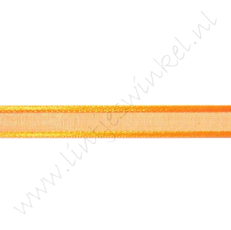 Organza Satijnrand 10mm - Oranje