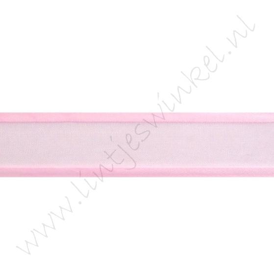 Organza Satijnrand 22mm - Licht Roze
