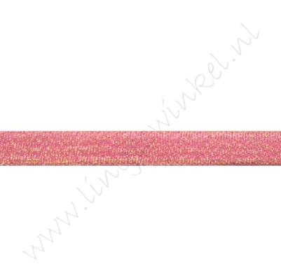 Glitter organza lint 10mm - Pink