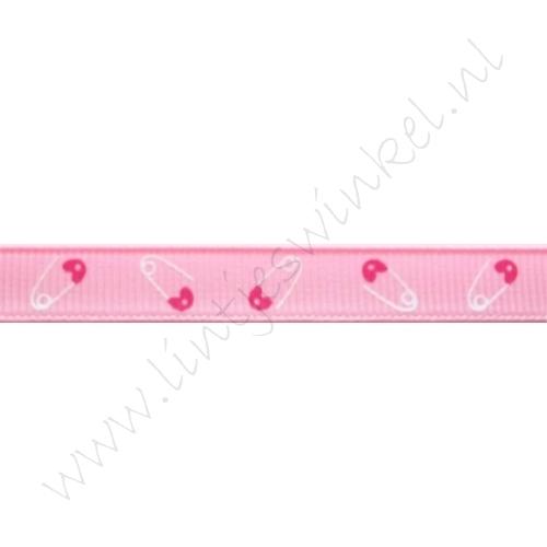 Baby lint 10mm - Speld Roze