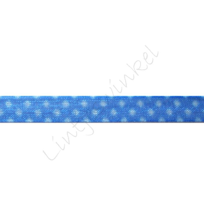 Organza Stip 6mm - Blauw Wit