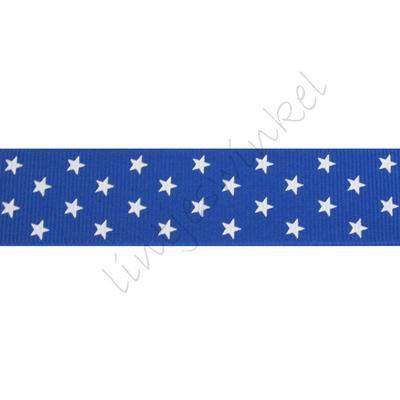 Lint sterren 25mm - Klein Blauw Wit