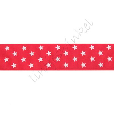 Lint sterren 25mm - Klein Rood Wit