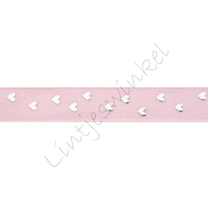 Lint harten 12mm - Mat Roze Zilver