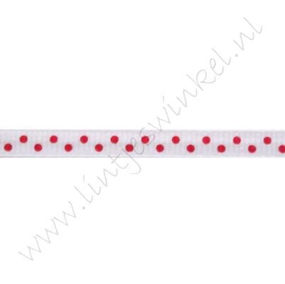 Stippenlint 6mm - Wit Rood