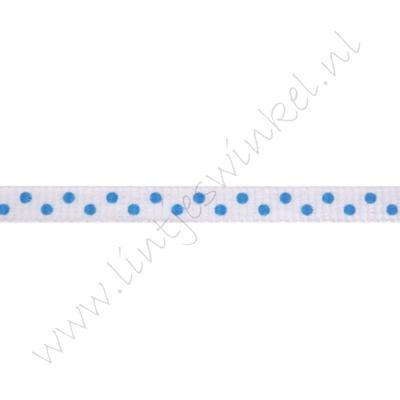 Stippenlint 6mm - Wit Aqua