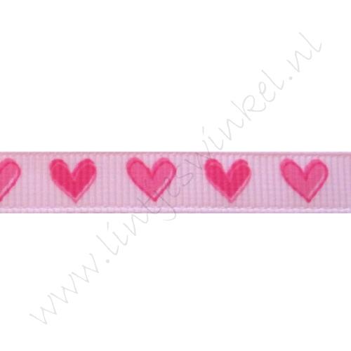 Lint harten 10mm - Roze Pink
