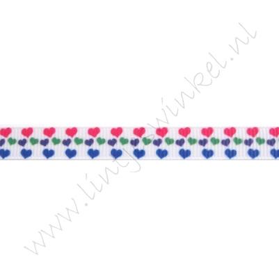 Lint harten 10mm - Mini Pink Blauw Paars Groen