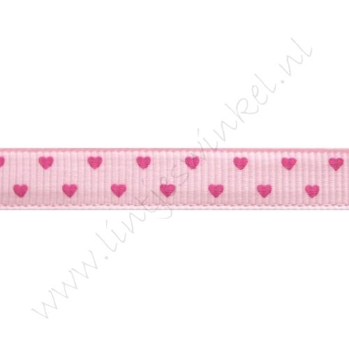 Lint harten 10mm - Mini Roze Pink