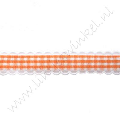 Schulplint ruit 16mm - Oranje