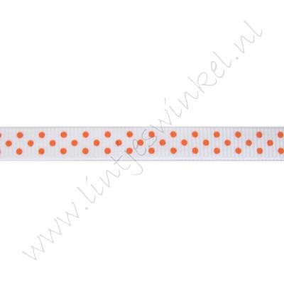 Stippenlint 10mm - Wit Oranje