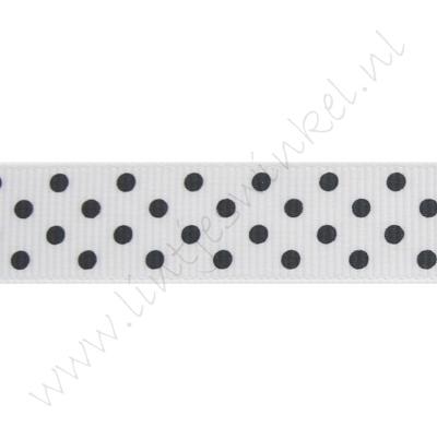 Stippenlint 16mm - Wit Zwart
