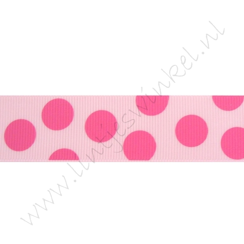 Stippenlint Groot 25mm - Roze Pink