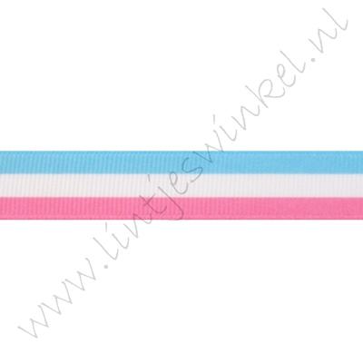 Lint vlag 16mm - Roze Wit Licht Blauw