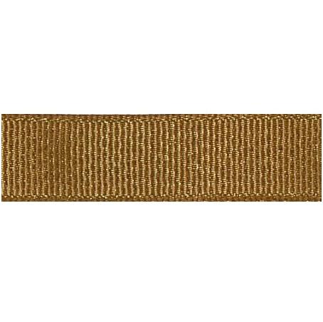 Metallic grosgrain lint 10mm - Golden Brown Glitter