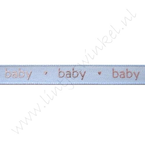 Baby lint 12mm - Baby Blauw Zilver