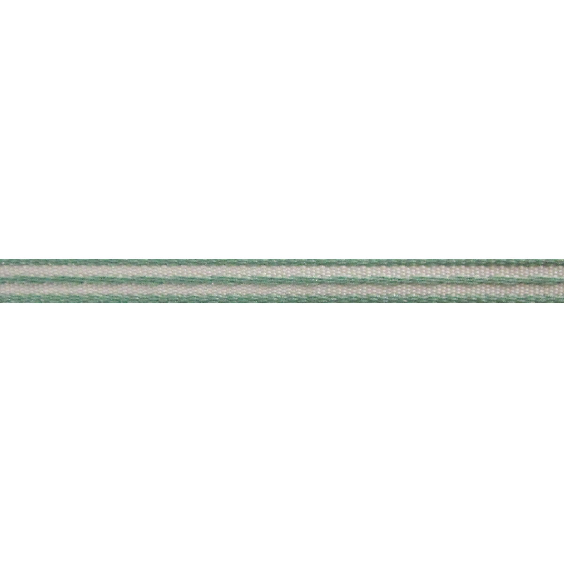 Strepenlint 5mm - Taffeta Satijn Heldergroen Wit