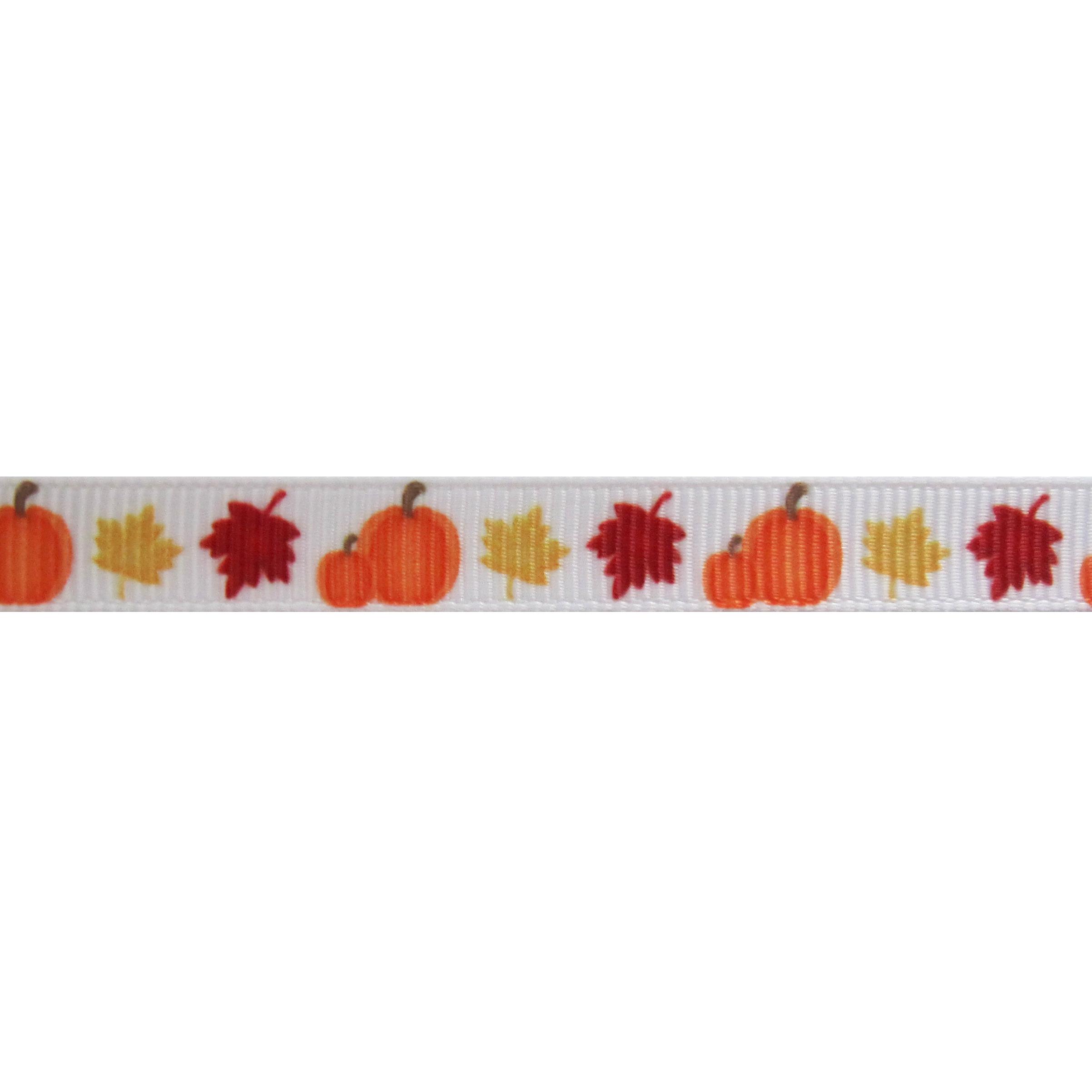 Lint Herfst Halloween 10mm - Pompoen Bladeren