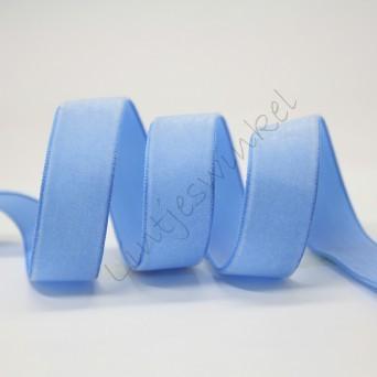 Lint fluweel 6mm - Porcelein Blauw