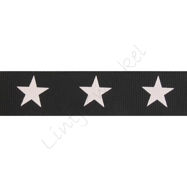 Lint sterren 22mm - Zwart Wit
