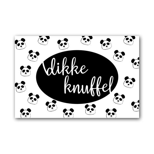 Zwart Wit Cadeaukaartje - Dikke Knuffel