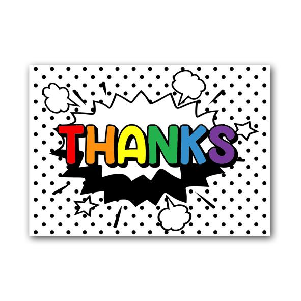 Zwart Wit Kaart - Thanks