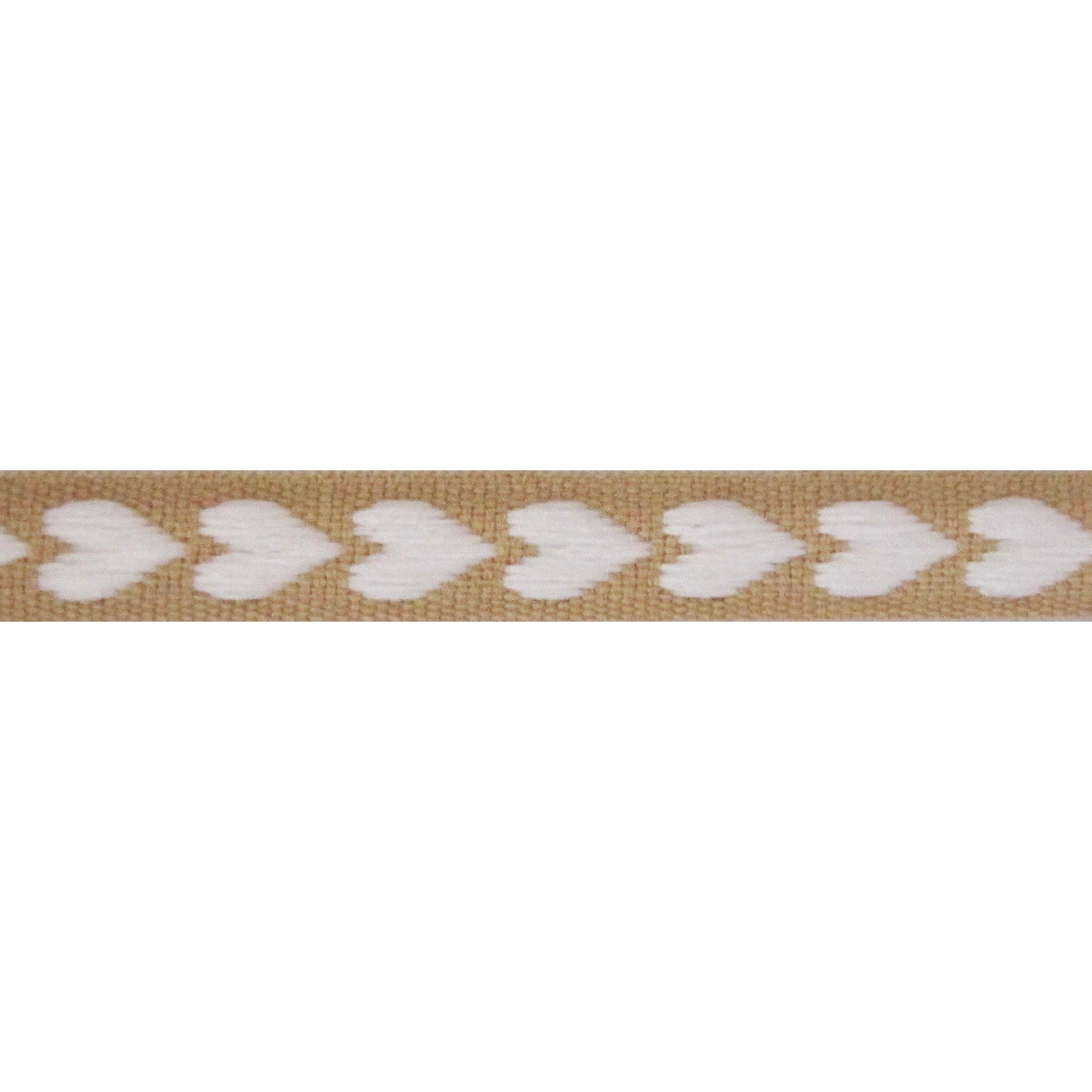 Lint harten 10mm - Weefband Beige Wit