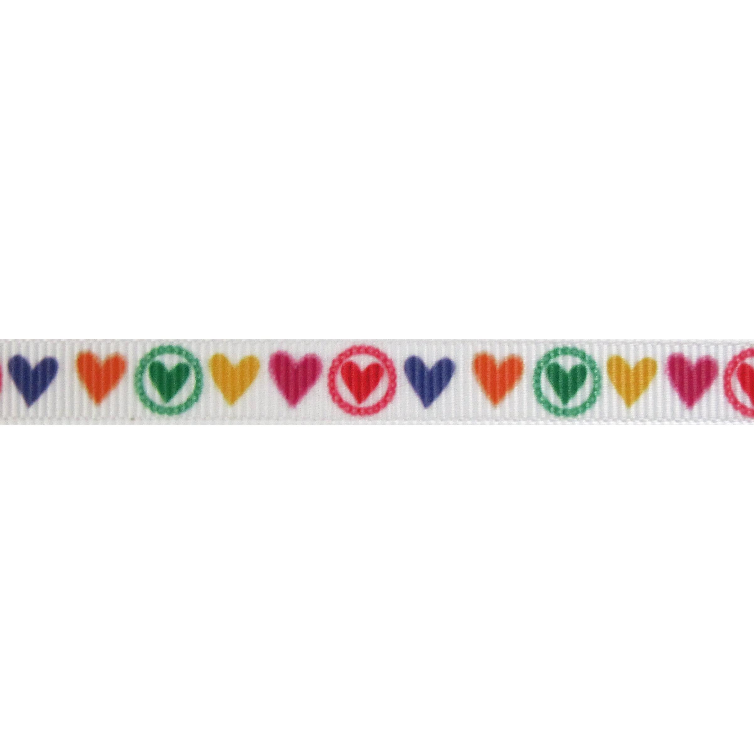 Lint harten 10mm - Wit Rood Geel Pink Groen Paars Oranje