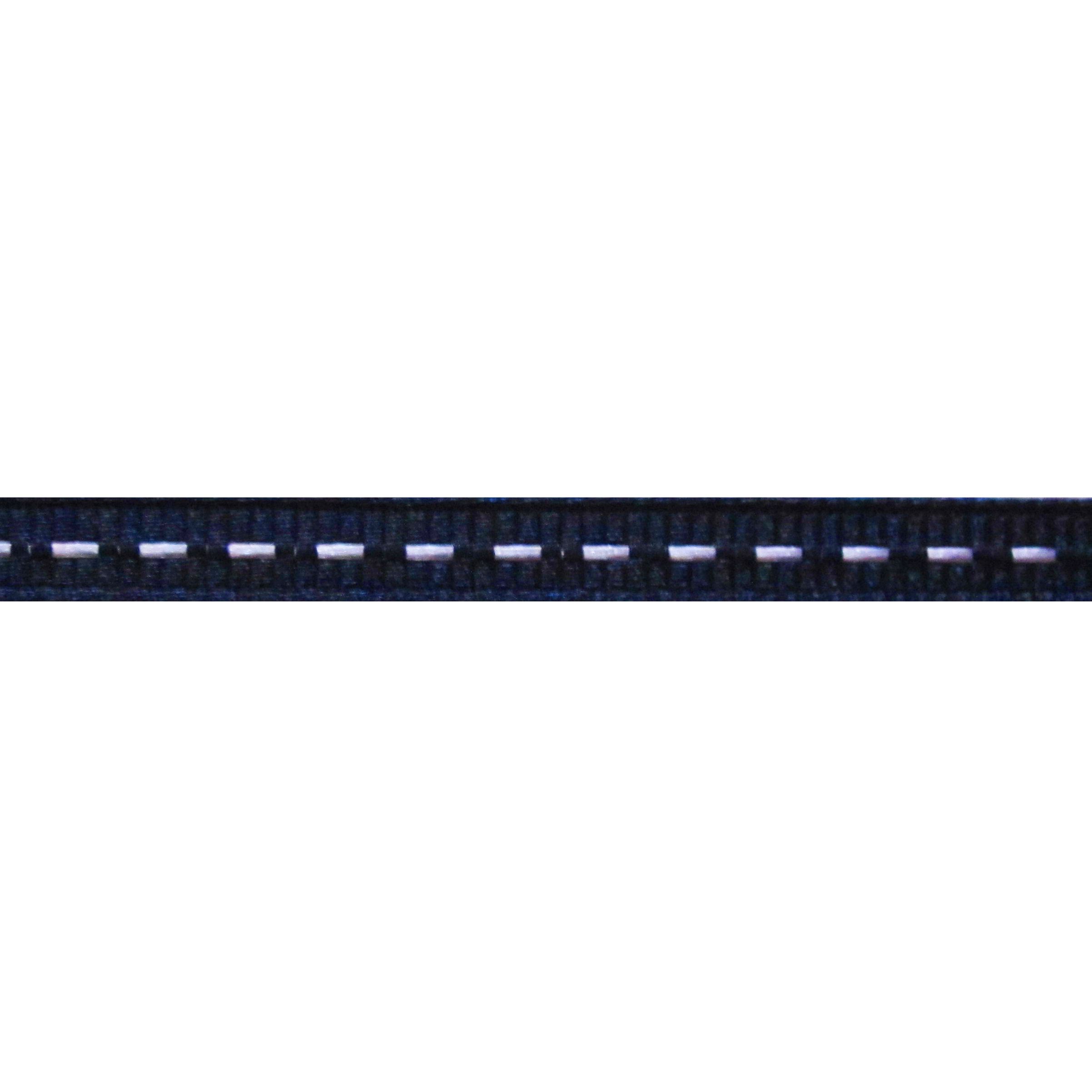 Lint stiksels 6mm - Nachtblauw Wit