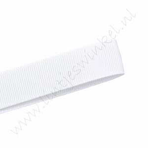Grosgrain lint 10mm (rol 22 meter) - Wit (029)
