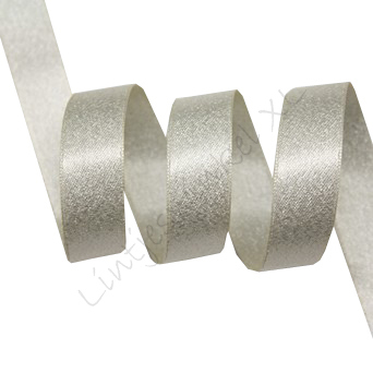 Metallic Satijn 10mm - Creme Zilver (815)