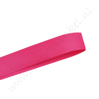 Grosgrain lint 16mm (rol 22 meter) - Shocking Pink (175)
