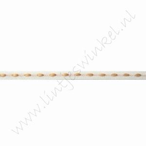 Lint stiksels 3mm (rol 25 meter) - Wit Beige