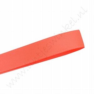 Grosgrain lint 10mm (rol 22 meter) - Neon Oranje (600)
