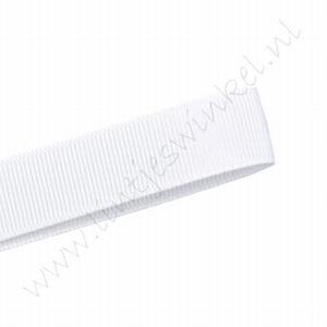 Grosgrain lint 6mm (rol 22 meter) - Wit (029)