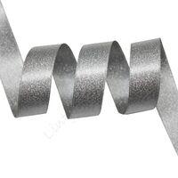 Metallic Satijn 22mm - Zilver Grijs Zilver (012)