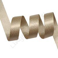Metallic Satijn 10mm - Licht Bruin Zilver (835)