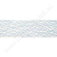 Crispy (net) lint 30mm - Licht Blauw