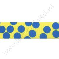 Stippenlint Groot Mix 25mm - Geel Blauw