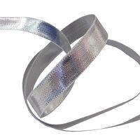 Weefband 10mm - Zilver Glans (dubbelzijdig)