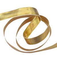 Weefband 10mm - Goud Glans (dubbelzijdig)