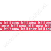 Kerstlint 16mm - Let it Snow Rood
